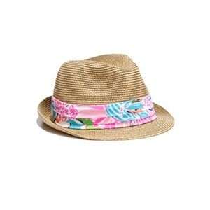 Lilly Pulitzer Girls Nosey Posey Straw Fedora